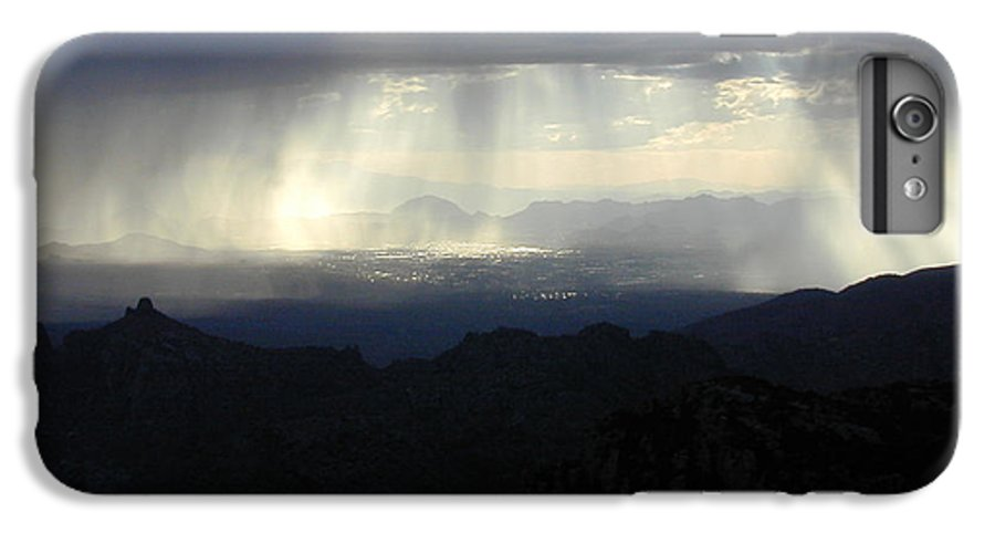 Darkness IPhone 6 Plus Case featuring the photograph Darkness Over The City by Douglas Barnett
