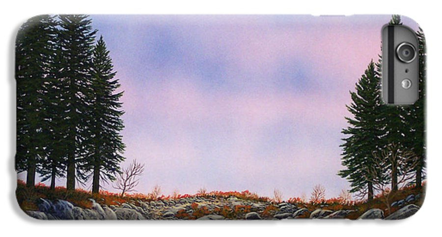 Landscape IPhone 6 Plus Case featuring the painting Dawn Pacific Crest Trail by Frank Wilson