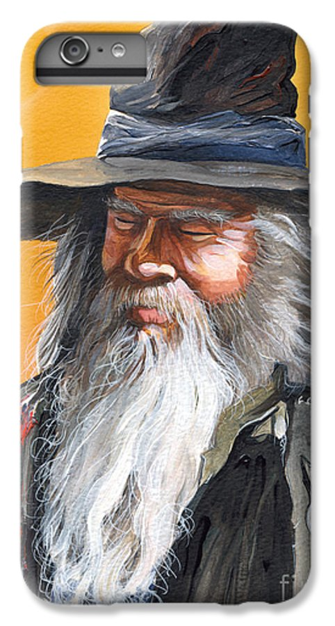 Fantasy Art IPhone 6 Plus Case featuring the painting Daydream Wizard by J W Baker