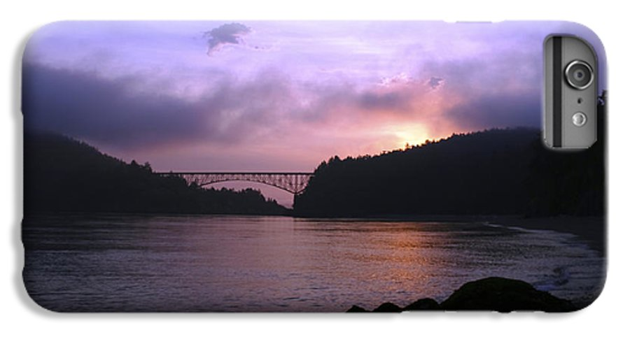 Sunrise IPhone 6 Plus Case featuring the photograph Deception Pass Sunrise by Idaho Scenic Images Linda Lantzy