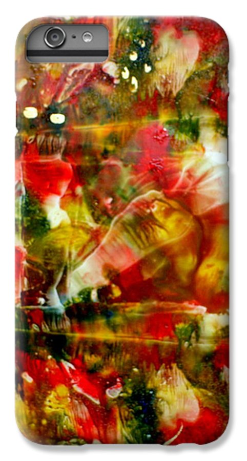 Window IPhone 6 Plus Case featuring the painting Deck The Halls by Susan Kubes