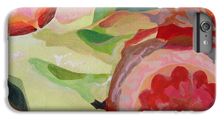 Abstract IPhone 6 Plus Case featuring the painting Decoupage by Muriel Dolemieux