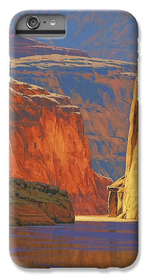 Grand Canyon IPhone 6 Plus Case featuring the painting Deep In The Canyon by Cody DeLong