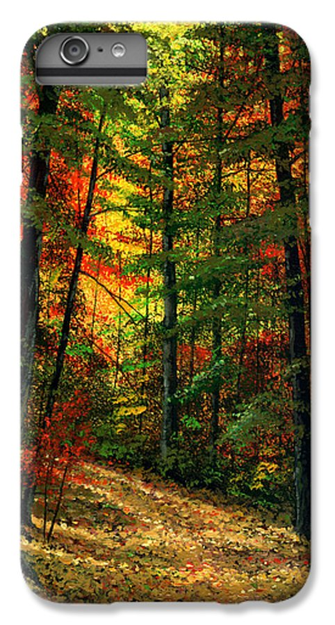 Landscape IPhone 6 Plus Case featuring the painting Deep In The Forest by Frank Wilson