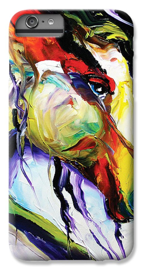 Horse Paintings IPhone 6 Plus Case featuring the painting Deep Memories by Laurie Pace