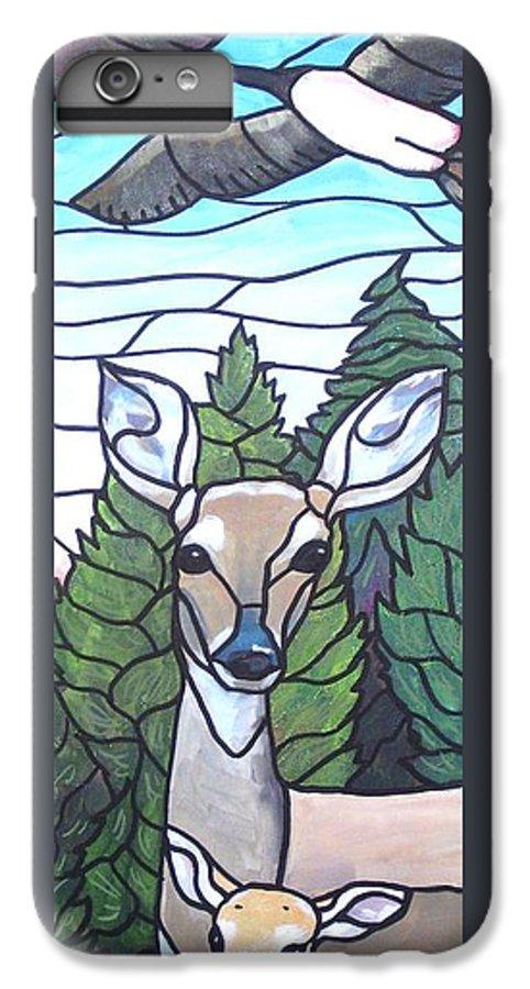 Deer IPhone 6 Plus Case featuring the painting Deer Scene by Jim Harris