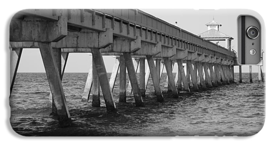 Architecture IPhone 6 Plus Case featuring the photograph Deerfield Beach Pier by Rob Hans