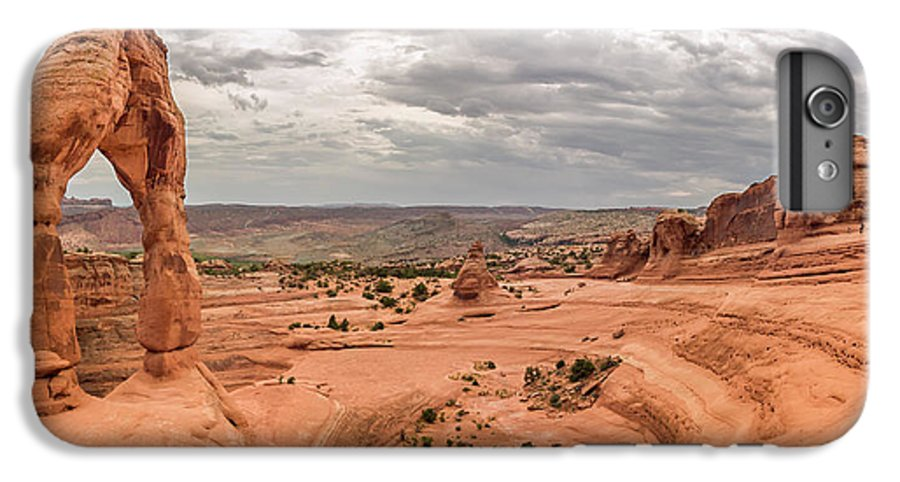 3scape IPhone 6 Plus Case featuring the photograph Delicate Arch Panoramic by Adam Romanowicz