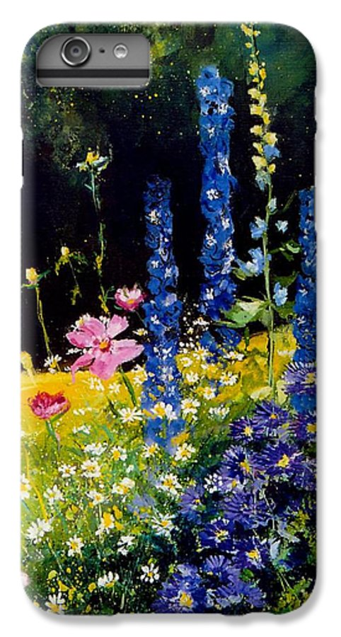 Poppies IPhone 6 Plus Case featuring the painting Delphiniums by Pol Ledent