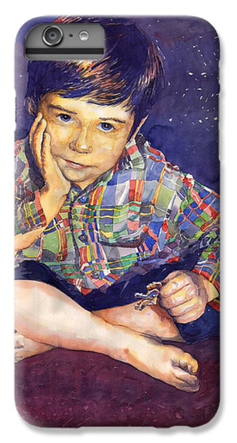 Watercolor Watercolour Portret Figurativ Realism People Commissioned IPhone 6 Plus Case featuring the painting Denis 01 by Yuriy Shevchuk