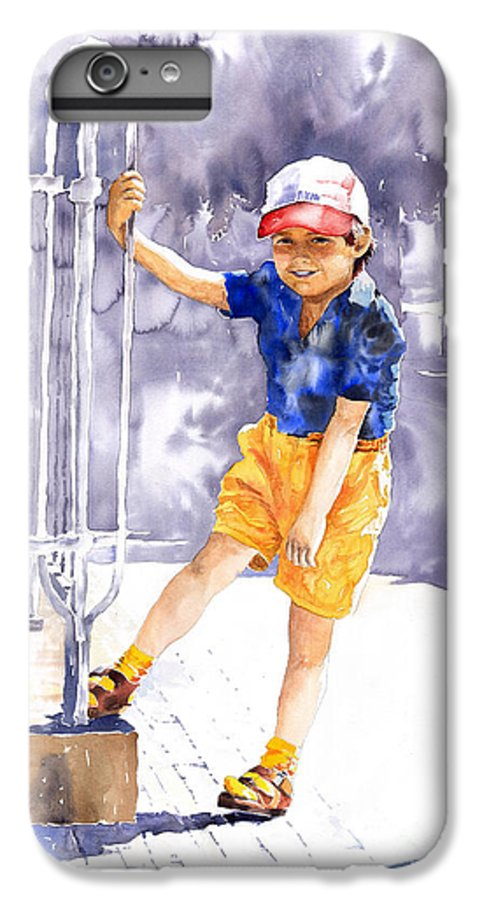 Watercolor Watercolour Figurativ Portret IPhone 6 Plus Case featuring the painting Denis 02 by Yuriy Shevchuk