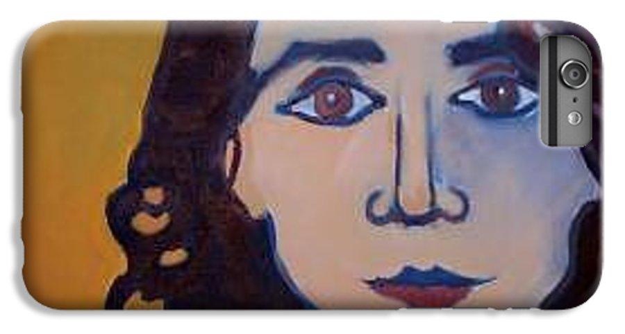 Greek Woman IPhone 6 Plus Case featuring the painting Denise Closeup by Debra Bretton Robinson