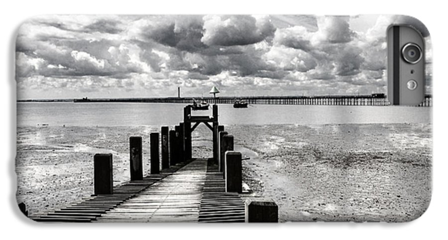 Wharf Southend Essex England Beach Sky IPhone 6 Plus Case featuring the photograph Derelict Wharf by Sheila Smart Fine Art Photography