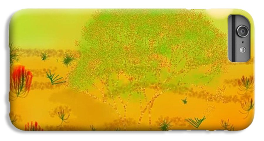 Sky.heat.dust.sun.desert.bush.sand.prickles. Sandy Dunes.rest.silence. IPhone 6 Plus Case featuring the digital art Desert by Dr Loifer Vladimir