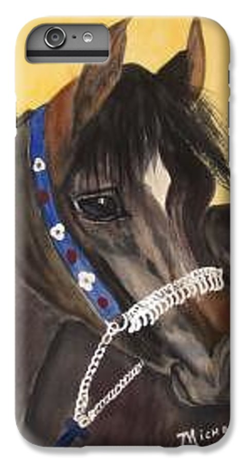 Arabian Horse IPhone 6 Plus Case featuring the painting Desert Dream by Michele Turney