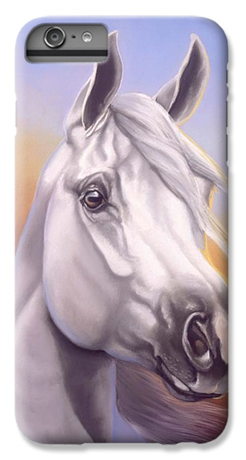 Arabian IPhone 6 Plus Case featuring the painting Desert Prince by Howard Dubois