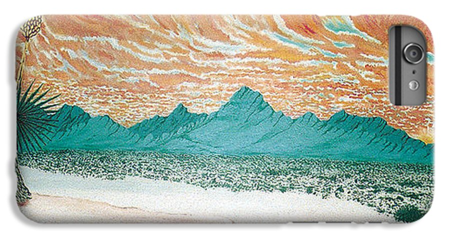 Desertscape IPhone 6 Plus Case featuring the painting Desert Splendor by Marco Morales