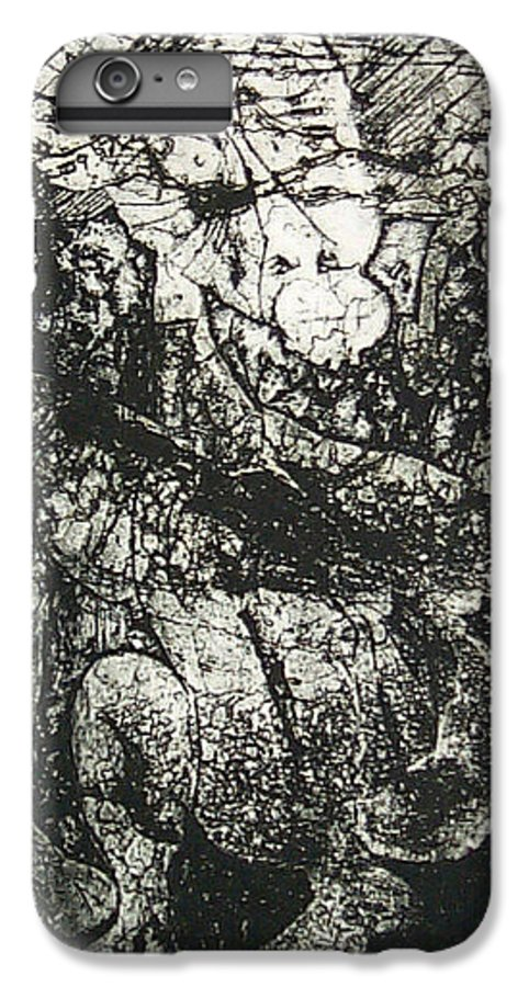 Etching IPhone 6 Plus Case featuring the print Destroy Plate by Thomas Valentine