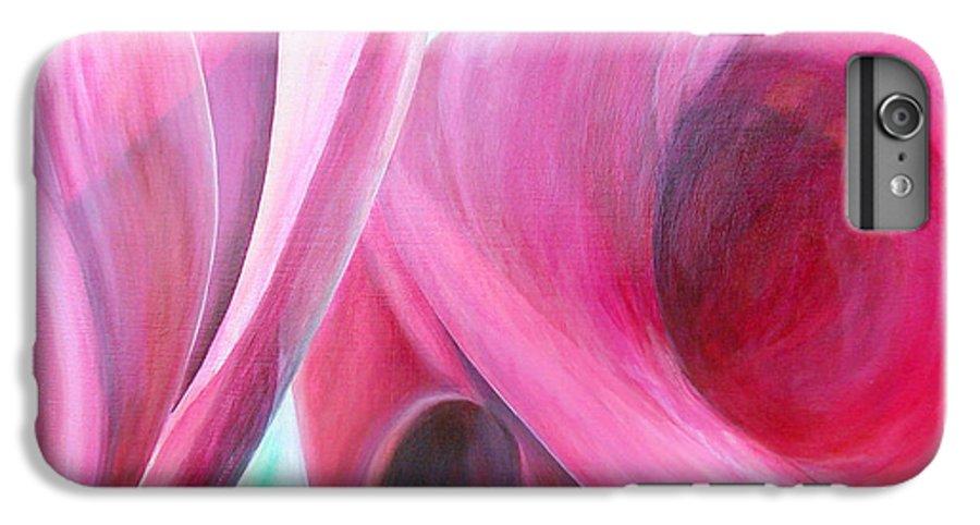 Fleurs IPhone 6 Plus Case featuring the painting Detail by Muriel Dolemieux