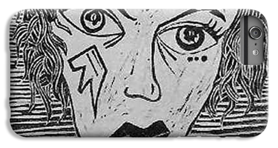 Prints IPhone 6 Plus Case featuring the print Devil Print Two Out Of Five by Thomas Valentine