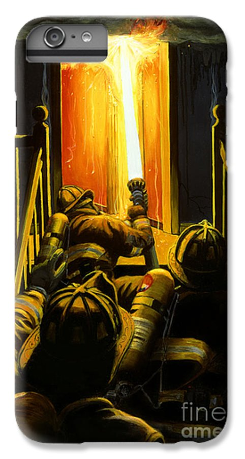 Firefighting IPhone 6 Plus Case featuring the painting Devil's Stairway by Paul Walsh