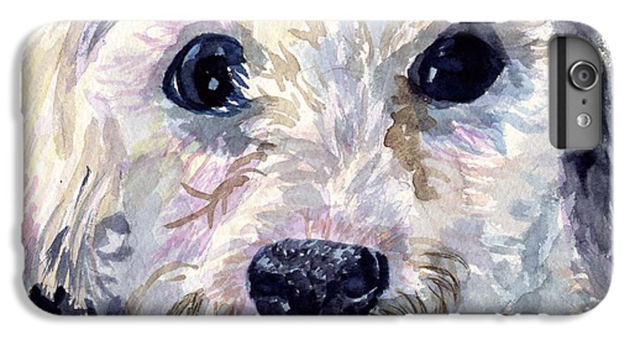 Bichon Frise IPhone 6 Plus Case featuring the painting Did You Say Lunch by Sharon E Allen