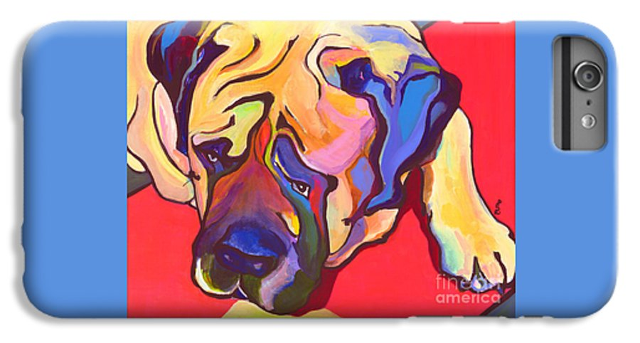 Mastiff IPhone 6 Plus Case featuring the painting Diesel  by Pat Saunders-White