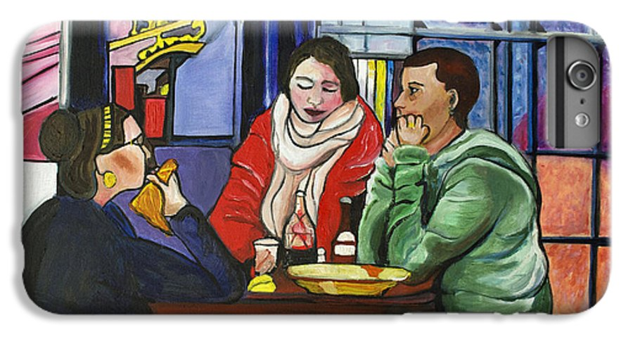 People IPhone 6 Plus Case featuring the painting Dinner In Dam by Patricia Arroyo