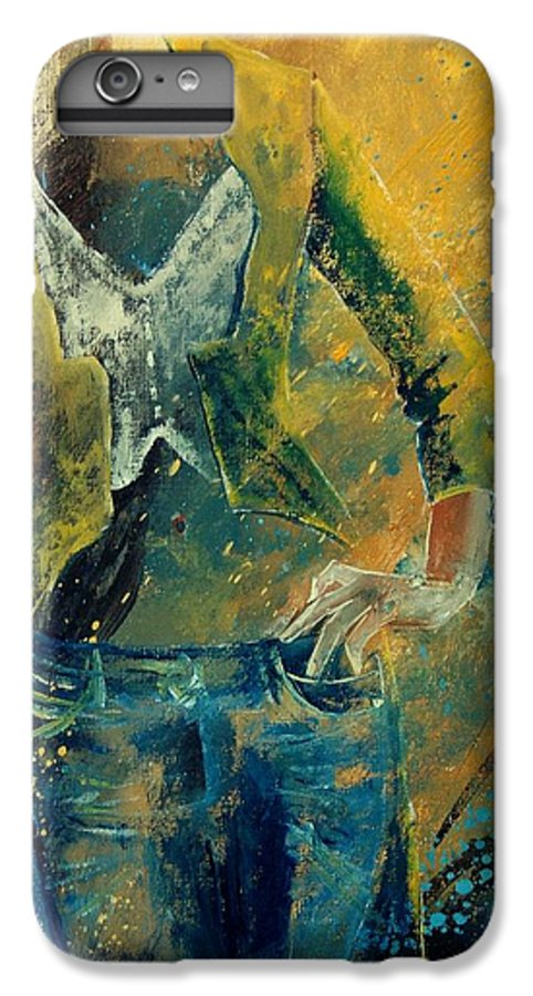 Woman Girl Fashion IPhone 6 Plus Case featuring the painting Dinner Jacket by Pol Ledent