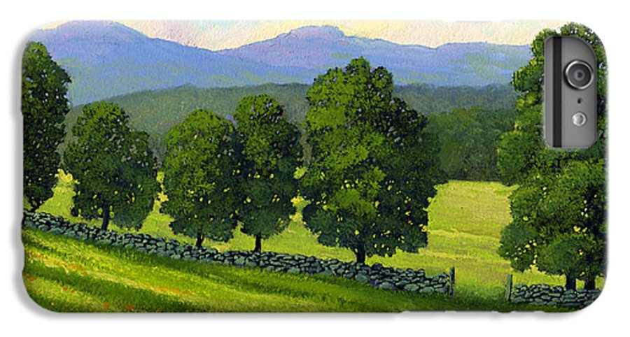 Landscape IPhone 6 Plus Case featuring the painting Distant Mountains by Frank Wilson