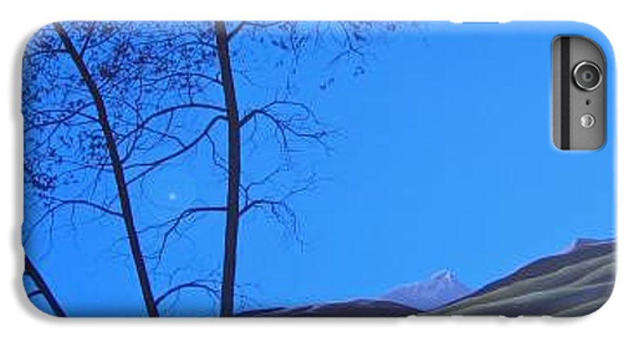 Mountains IPhone 6 Plus Case featuring the painting Distant Sun by Hunter Jay