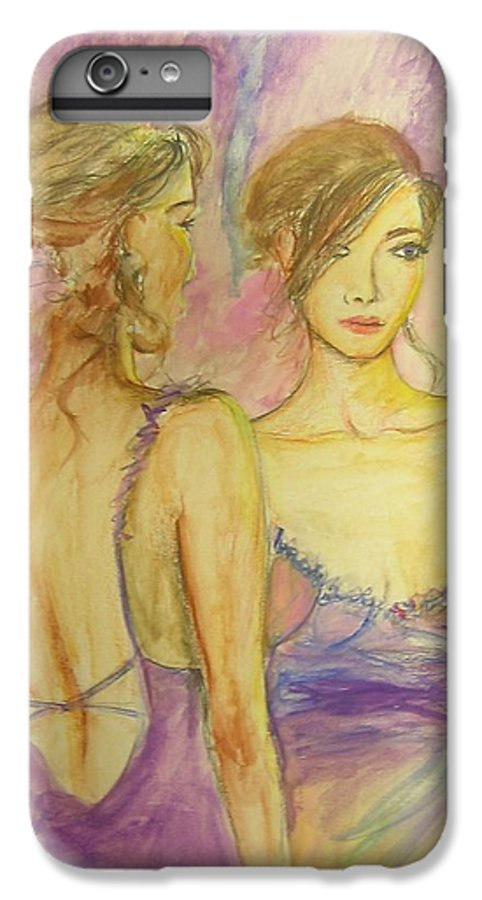 Feminine IPhone 6 Plus Case featuring the painting Distracted by Lizzy Forrester