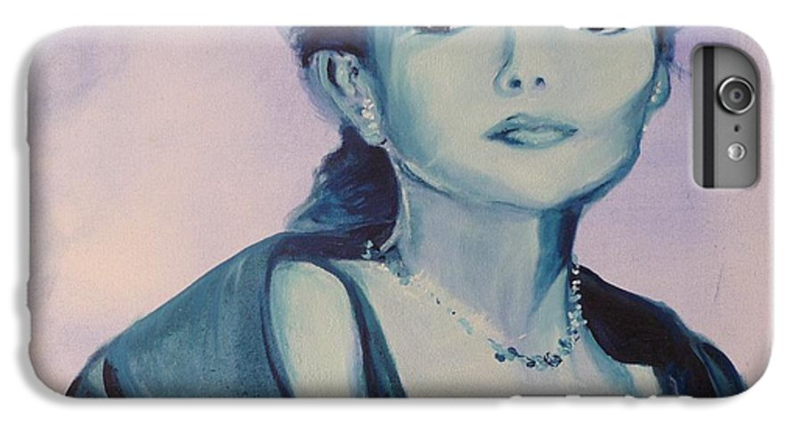 Maria Callas IPhone 6 Plus Case featuring the painting Diva I Maria Callas by Lizzy Forrester