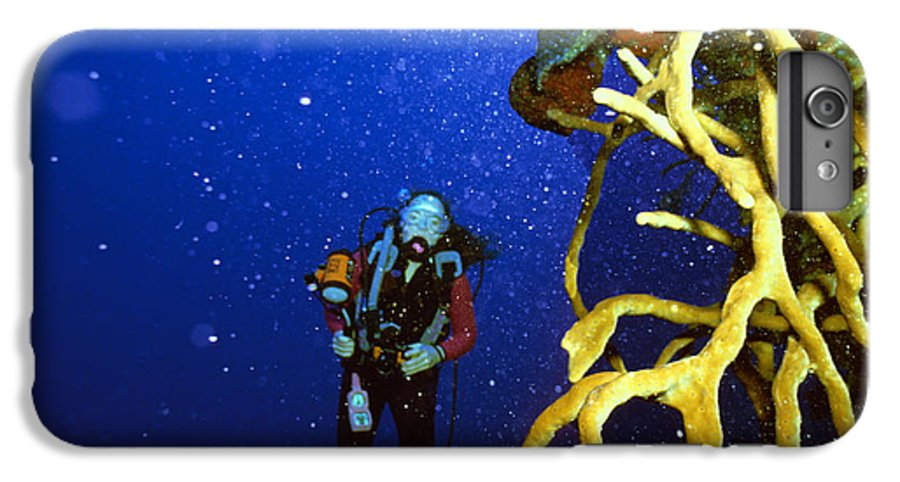 Dive IPhone 6 Plus Case featuring the photograph Diving The Wall At Little Cayman by Carl Purcell