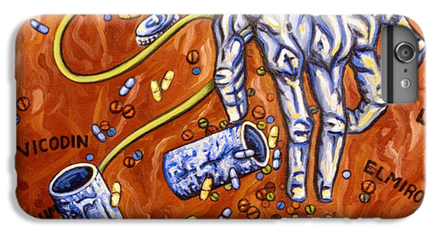 Pain IPhone 6 Plus Case featuring the painting Dmso by Judy Henninger
