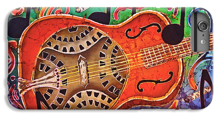 Dobro IPhone 6 Plus Case featuring the tapestry - textile Dobro - Slide Guitar by Sue Duda