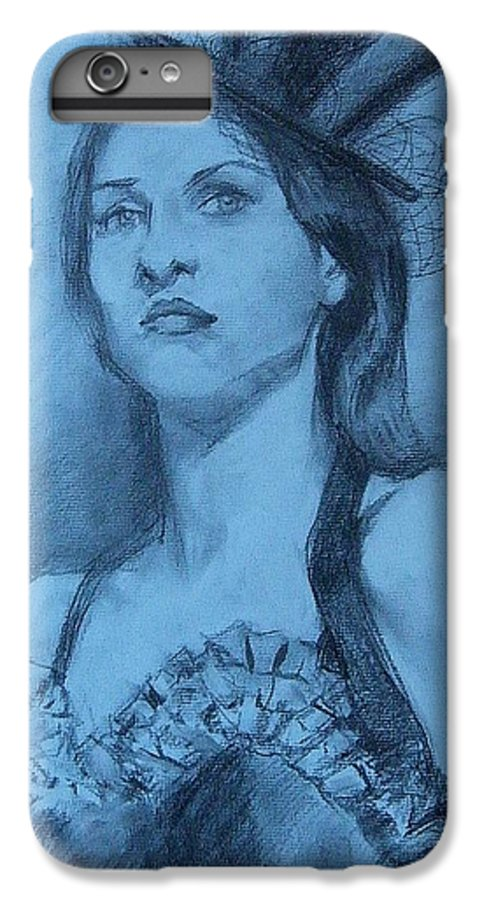 Portrait IPhone 6 Plus Case featuring the drawing Dolly In Costume by Debra Jones
