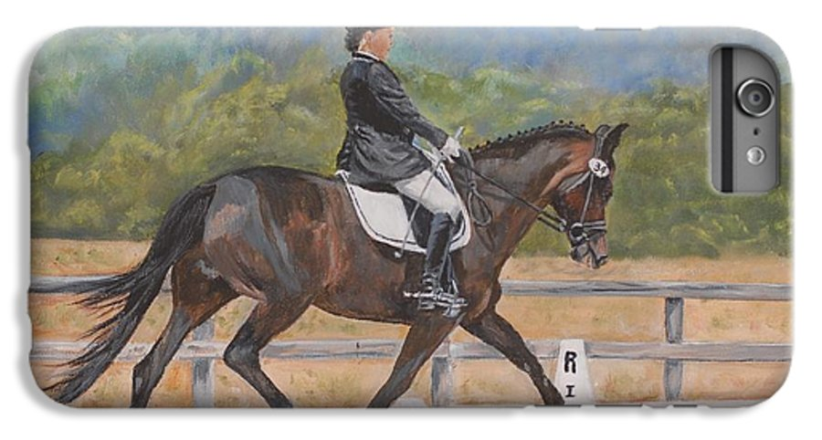 Horse IPhone 6 Plus Case featuring the painting Donnerlittchen by Quwatha Valentine