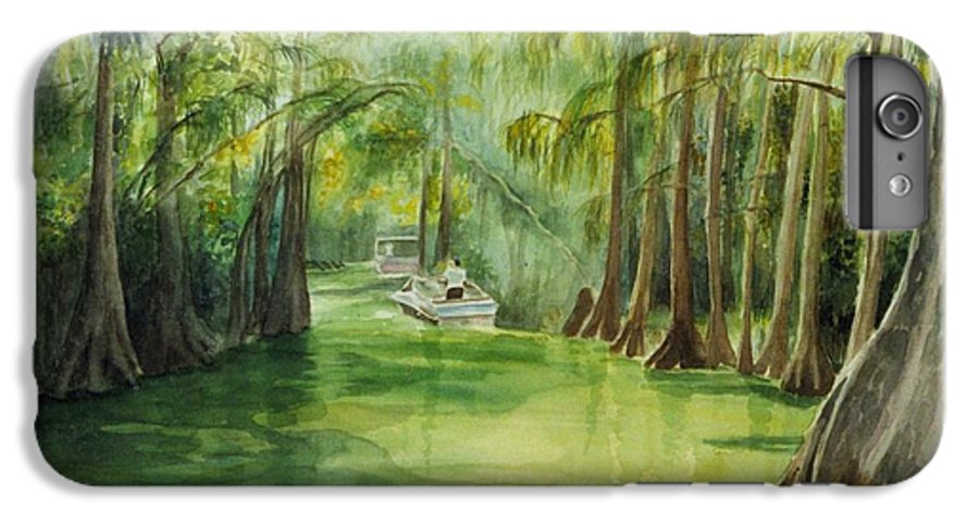 Passage Between Lakes IPhone 6 Plus Case featuring the painting Dora Passage by Judy Swerlick