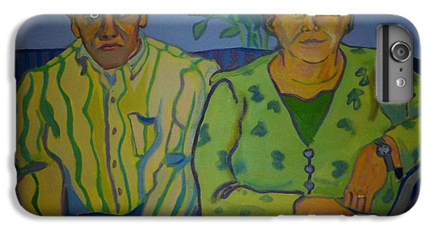 Older Couple IPhone 6 Plus Case featuring the painting Dottie And Jerry by Debra Bretton Robinson