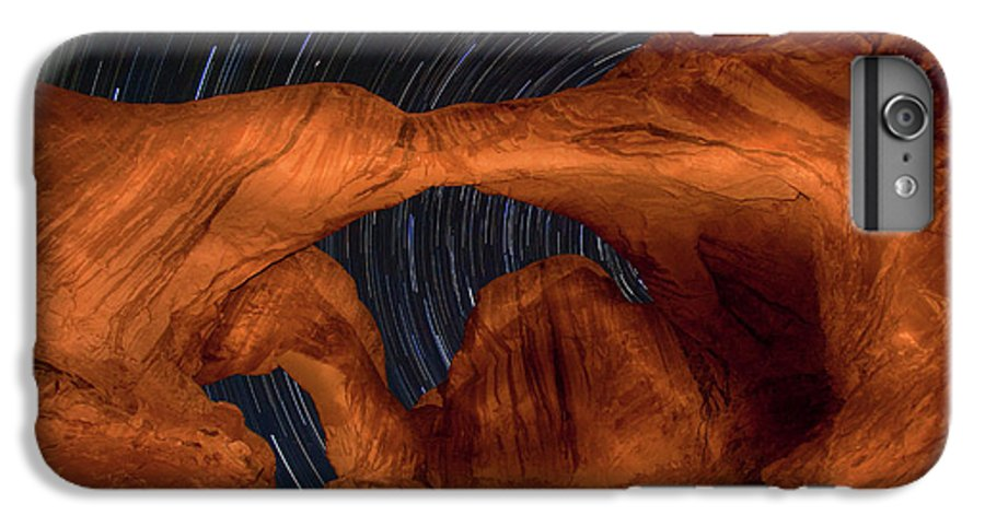 3scape Photos IPhone 6 Plus Case featuring the photograph Double Arch Star Trails by Adam Romanowicz