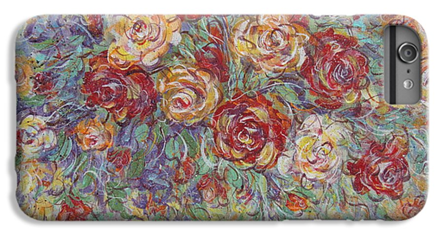 Flowers IPhone 6 Plus Case featuring the painting Double Delight. by Natalie Holland