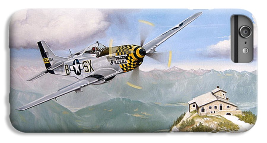 Military IPhone 6 Plus Case featuring the painting Double Trouble Over The Eagle by Marc Stewart