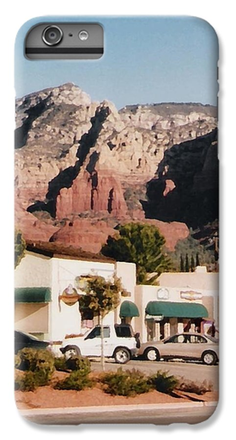 Sedona IPhone 6 Plus Case featuring the mixed media Down In Sedona by Pharris Art