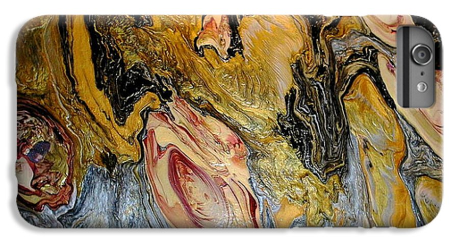 Abstract IPhone 6 Plus Case featuring the painting Dragon Dream by Patrick Mock