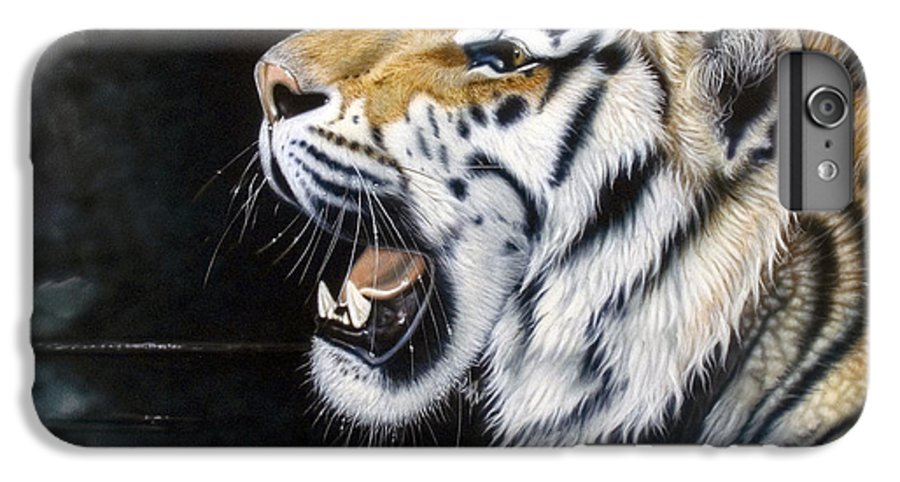 Tiger IPhone 6 Plus Case featuring the painting Dragonfly by Sandi Baker