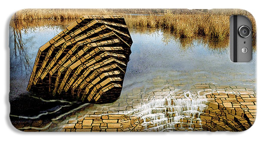 Drain IPhone 6 Plus Case featuring the digital art Drain - Mendon Ponds by Peter J Sucy