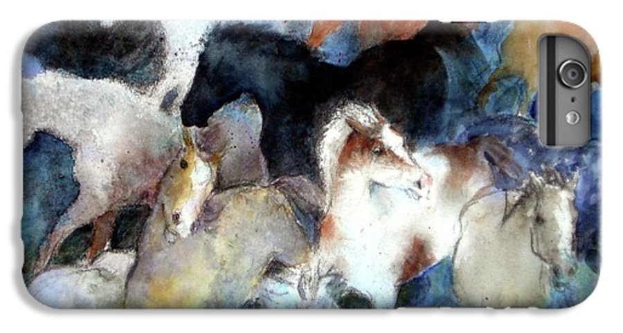 Horses IPhone 6 Plus Case featuring the painting Dream Of Wild Horses by Christie Michelsen