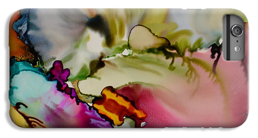 Abstract IPhone 6 Plus Case featuring the painting Dreaming by Susan Kubes
