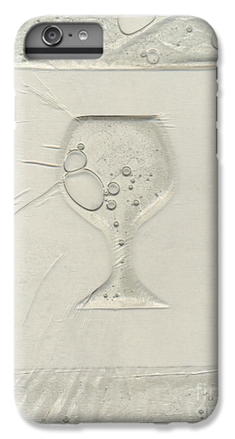 Wine IPhone 6 Plus Case featuring the painting Drinking Alone by Rick Silas